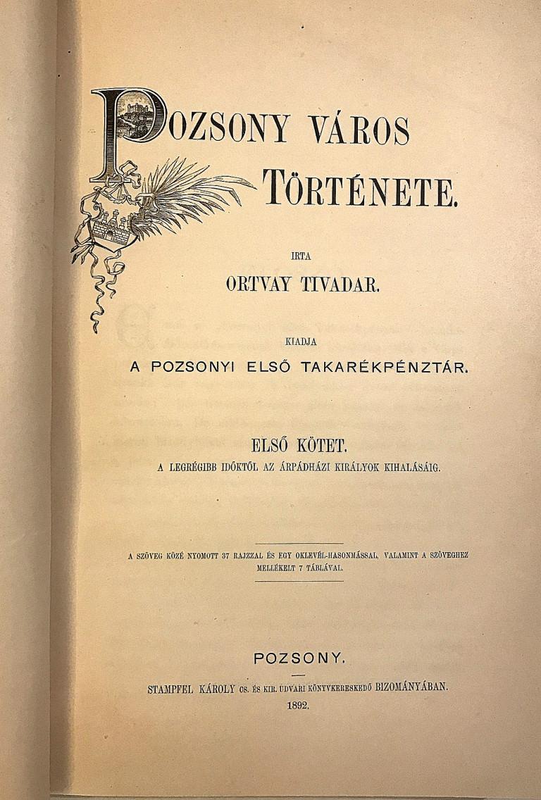 Pozsony Város Története. I, II. (1-4), III., IV (1) - komplet IMG 2205